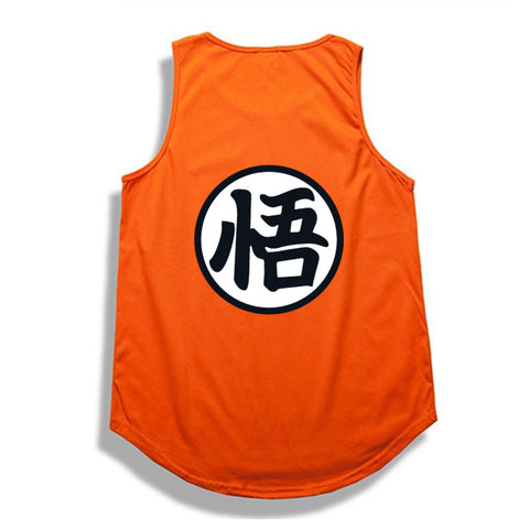 Orange Dragon Ball Z Kanji Tank Top