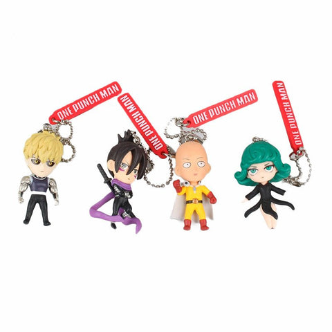 One Punch Man 4pcs Figure Keychains