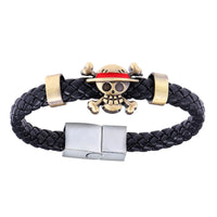 One Piece Leather Weave Bracelet - Otakupicks