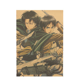 Attack on Titan Levi and Eren Poster