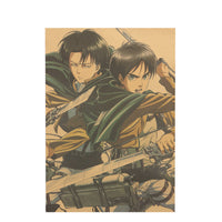 Attack on Titan Levi and Eren Poster - Otakupicks