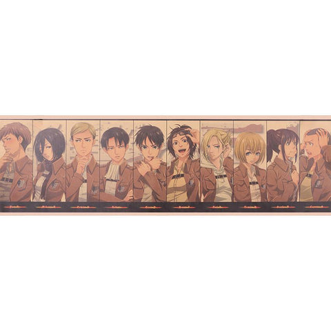 Attack on Titan Characters Poster