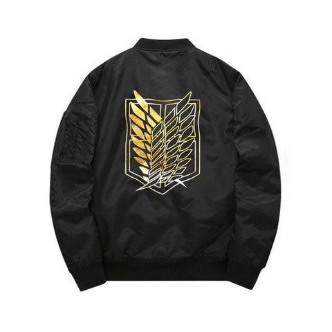 Attack on Titan Golden Corps Bomber Jacket - Otakupicks