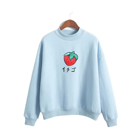 Kawaii Kanji Strawberry Sweater - Otakupicks