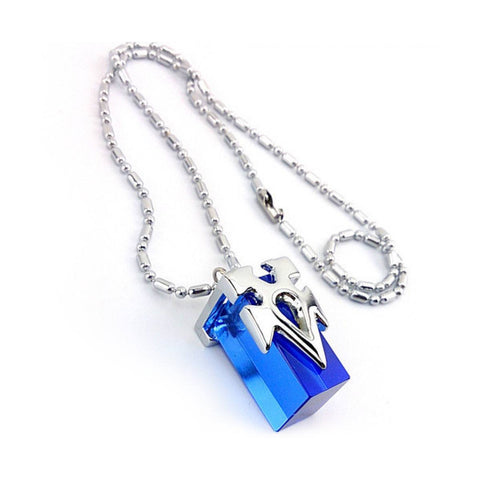 Sword Art Online Blue Metastasis Crystal Necklace