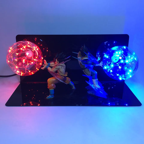 Dragon Ball Z Goku and Vegeta Ki Blast LED Lamp