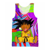 Dragon Ball Fresh Prince Goku Tank Top - Otakupicks