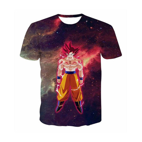 Dragon Ball Z Goku Outer Space T-Shirt - Otakupicks