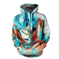 Dragon Ball Goku Super Blue PowerUp Hoodie - Otakupicks