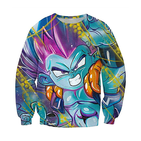 Dragon Ball Z Blue Gotenks Sweatshirt - Otakupicks
