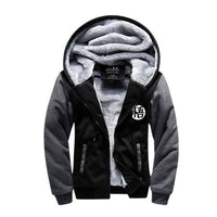 Dark Gray Dragon Ball Z hoodie jacket front view