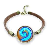 Hearthstone Leather Bronze Bracelet - Otakupicks