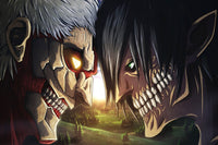 Attack on Titan Face Off Poster - Otakupicks