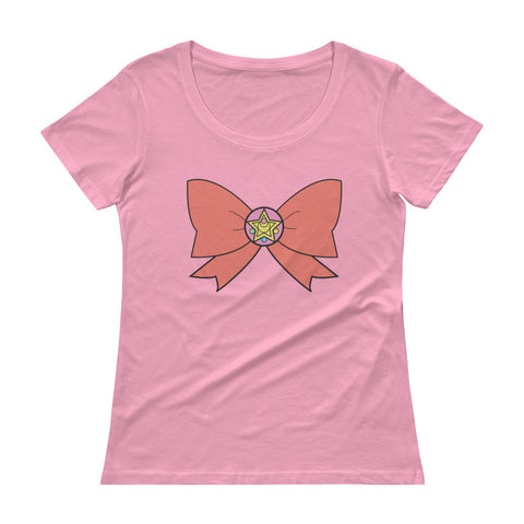 Sailor Moon Bowtie Scoopneck T-Shirt