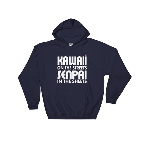 Kawaii on the Streets, Senpai in the Sheets Hoodie - Otakupicks