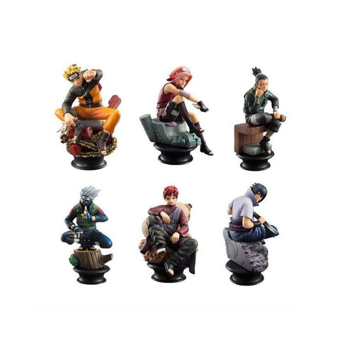 Naruto 6 Piece Anime Action Figure Set