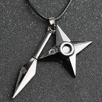 Naruto Kunai Shuriken Necklace