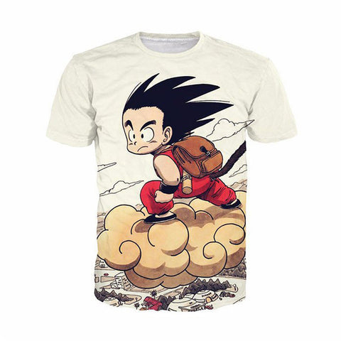 Dragon Ball Nimbus and Kid Goku T-Shirt - Otakupicks