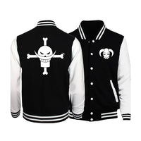 Once Piece Whitebeard Pirates Letterman Jacket - Otakupicks