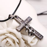 Death Note Black-Metal Cross Necklace