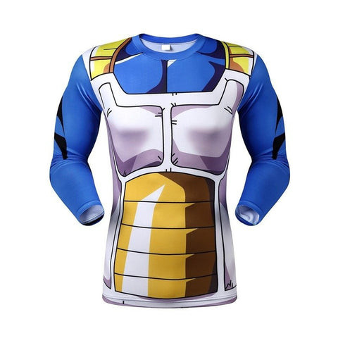 Dragon Ball Vegeta Saiyan Armor Long Sleeve 3D Shirt - Otakupicks