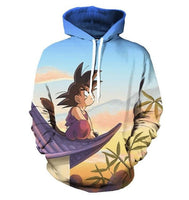 Dragon Ball Young Goku Rooftop Hoodie - Otakupicks