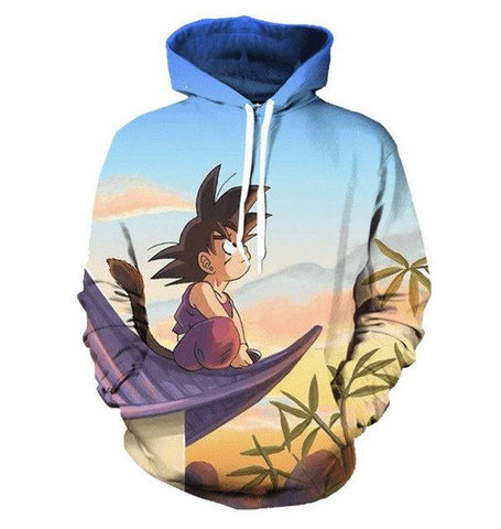 Dragon Ball Young Goku Rooftop Hoodie