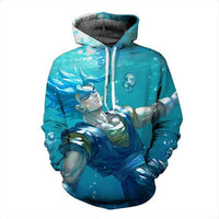 Dragon Ball Super Blue Vegito Drowning Hoodie - Otakupicks
