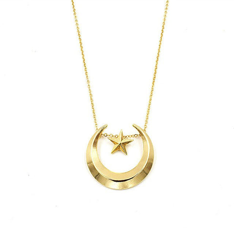 Sailor Moon Gold Plated Icon Necklace - Otakupicks