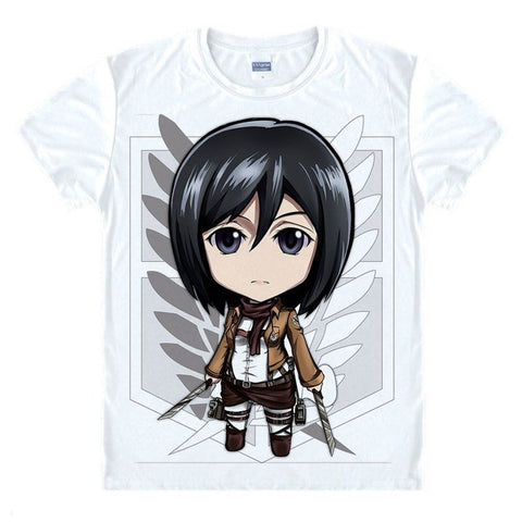 Attack on Titan Chibi Mikasa Ackerman T-shirt