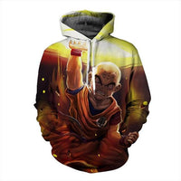 Dragon Ball Z Krillin Destructo Disk Hoodie - Otakupicks