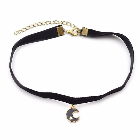 Sailor Moon Crescent Choker Black