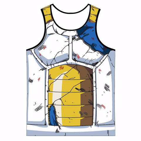 Dragon Ball Z Cracked Vegeta Armor Tank Top - Otakupicks