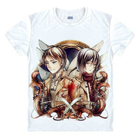 Attack on Titan Eren and Mikasa T-Shirt - Otakupicks