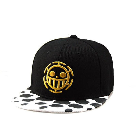 One Piece Heart Pirates Snapback Hat front view