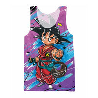 Dragon Ball Purple Kid Goku Tank Top - Otakupicks