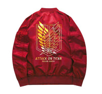 Attack on Titan Red Corps Bomber - Otakupicks