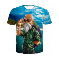 Dragon Ball Z Master Roshi 3D T-Shirt - Otakupicks
