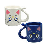 Sailor Moon Luna and Artemis mug set