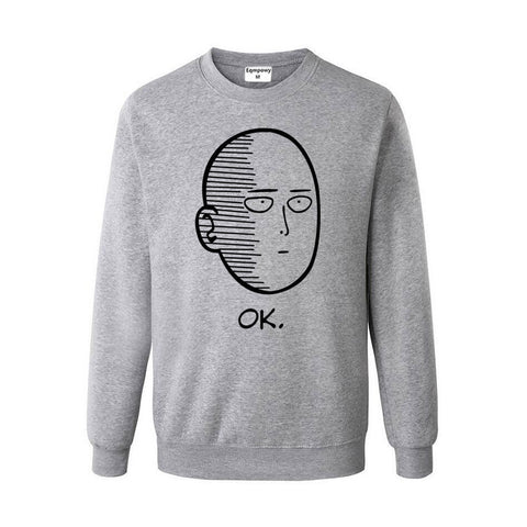 One Punch Man Saitama Gray sweatshirt