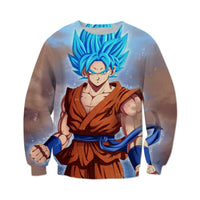Dragon Ball Super Saiyan Blue Goku Sweatshirt - Otakupicks