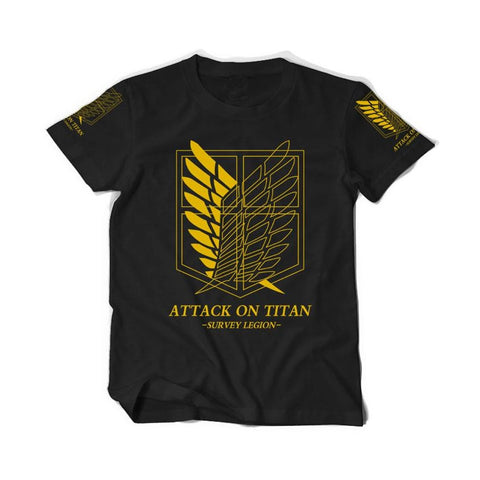 Attack On Titan Golden Survey Corps T-Shirt - Otakupicks