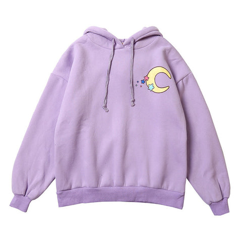 Sailor Moon Purple Moon Hoodie - Otakupicks