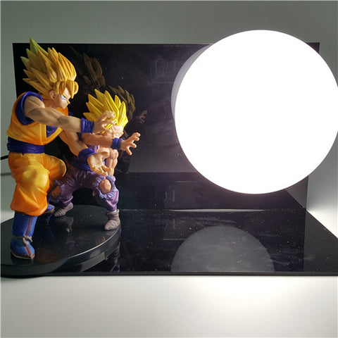 Dragon Ball Z Goku and Gohan Orb Lamp