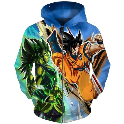 Dragon Ball Z Mirror Fight Hoodie - Otakupicks