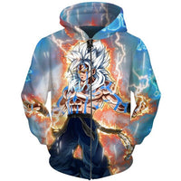 Dragon Ball Super Silver Saiyan Hoodie - Otakupicks