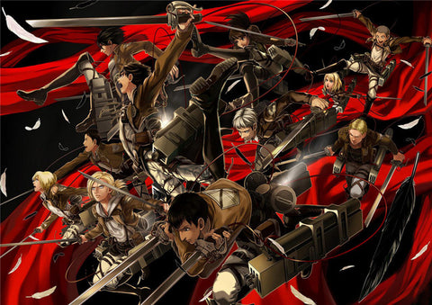 Attack on Titan Red Ribbon Poster