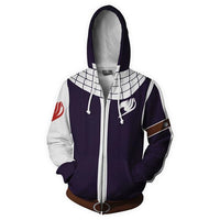 Fairy Tail Natsu Purple Costume Hoodie - Otakupicks