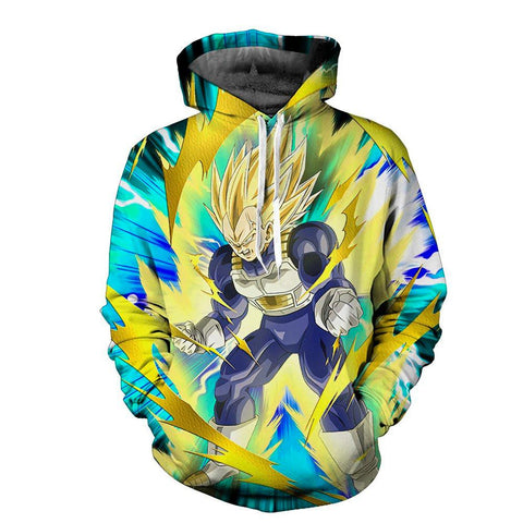 Dragon Ball Z Super Vegeta Pump Hoodie - Otakupicks