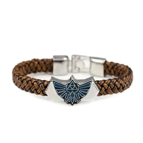The Legend of Zelda Leather Emblem Bracelet - Otakupicks